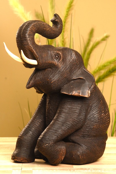 elefant aus holz figur teak buddha holzelefant gross. Black Bedroom Furniture Sets. Home Design Ideas