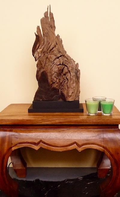 lampe h 50cm leuchte aus baumrinde tischleuchte. Black Bedroom Furniture Sets. Home Design Ideas