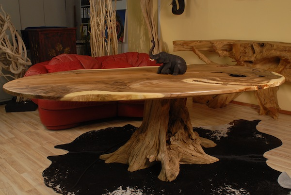 tisch aus holz esstisch schreibtisch wurzelholz l. Black Bedroom Furniture Sets. Home Design Ideas