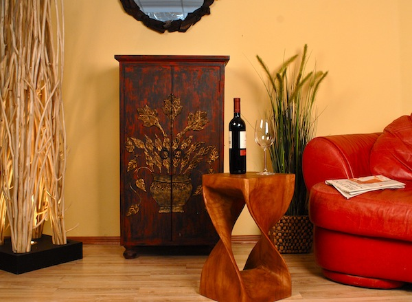 hocker aus holz blumens ule barhocker beistelltisch tisch podest h 50cm tb ebay. Black Bedroom Furniture Sets. Home Design Ideas