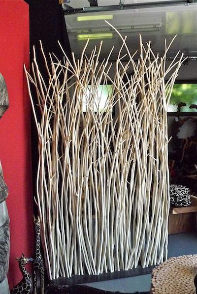 trennwand h he 220cm raumteiler aus teakholz sten f r. Black Bedroom Furniture Sets. Home Design Ideas