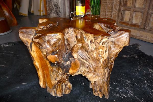 tisch a holz teak couchtisch sofatisch wurzelholz 66x66x43 wurzel treibholz ebay. Black Bedroom Furniture Sets. Home Design Ideas